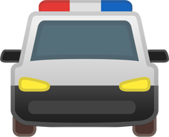 A Graphical Illustration of a Police Car