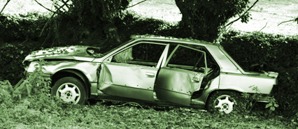 An Image of a Badly Damaged Vehicle