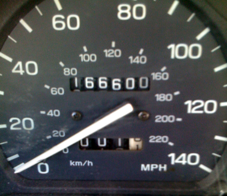 An Image Showing the Mileage Counter on a Vehicle